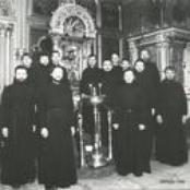 choir of the monks of montserrat abbey; benedictine abbey munstersc
