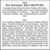Eric Schwartz: Self-Bootleg