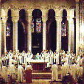 monks of the benedictine abbey en calcat with boy's choir from l'alumnat