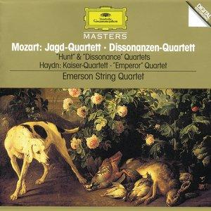 "Mozart, W.A.: String Quartets K. 458 ""Hunt""; K. 465 ""Dissonance"" / Haydn, J.: String Quartet, Op.76 No.3 ""Emperor"""