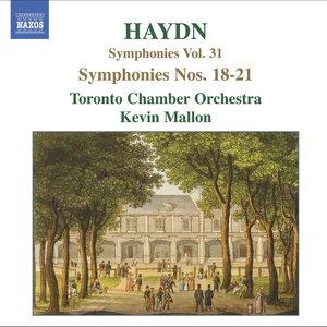 HAYDN: Symphonies, Vol. 31 (Nos. 18, 19, 20, 21)