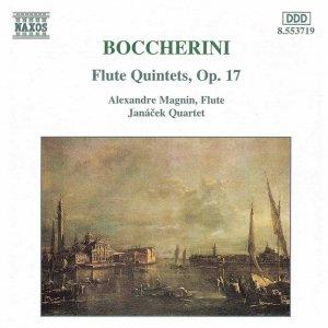 BOCCHERINI: Flute Quintets, Op. 17
