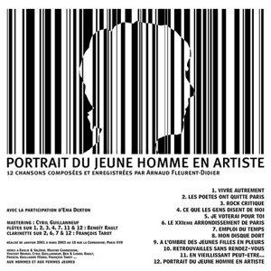 Portrait du jeune homme en artiste
