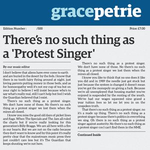 There's No Such Thing As A Protest Singer