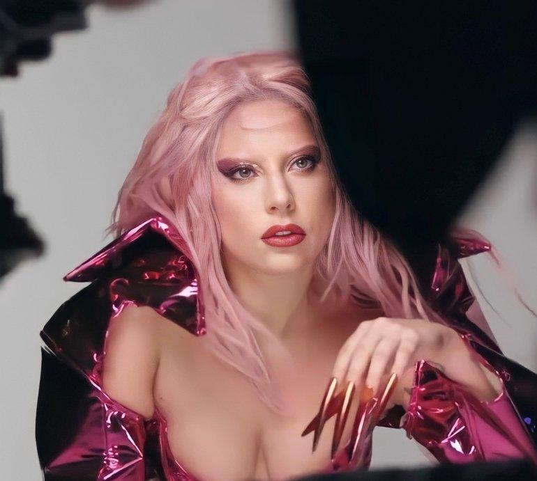 Gaga behind the scenes Queendom - Dom Perignon collab
