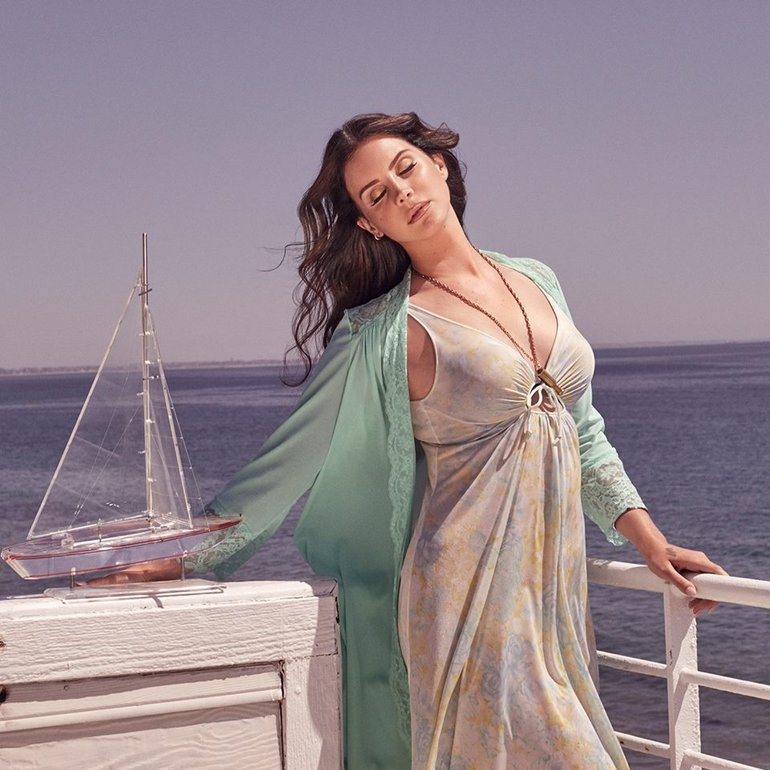 Lana Del Rey Cover art to new Single 'High By The Beach'