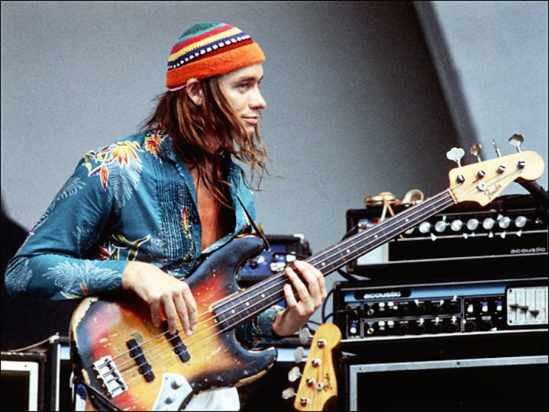 Jaco Pastorius live on stage with his fretless Bass of Doom