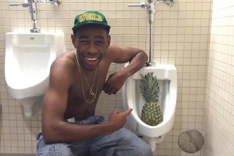 Tyler , The Creator with pineapple