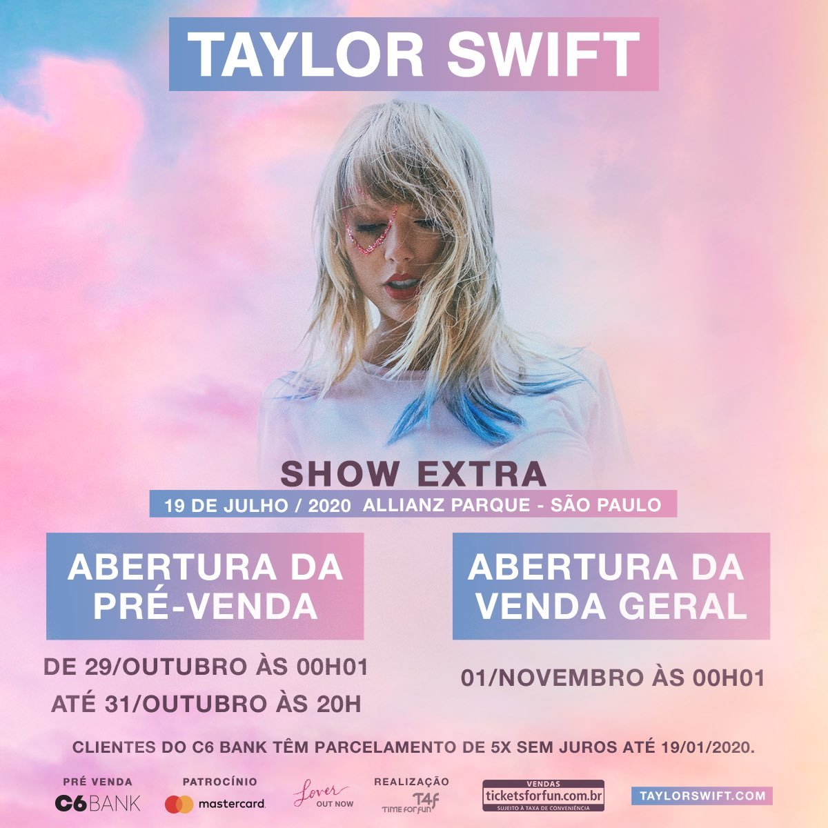 Taylor Swift Tour 2020.Taylor Swift Lover World Tour At Allianz Parque Sao Paulo