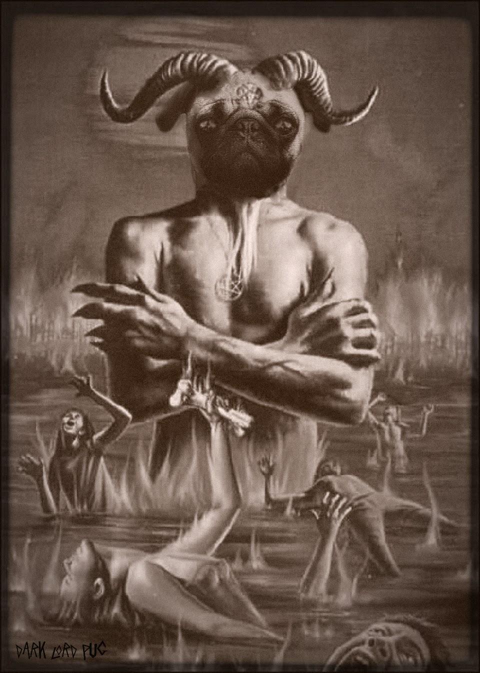 картинки чертей и бесов черная