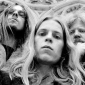 Christoph Franke, Peter Baumann and Edgar Froese in Reims 1974