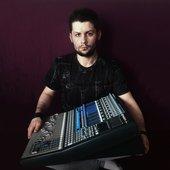 With studio mixer