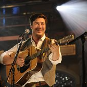 Marcus Mumford performs at Live on Letterman in New York City