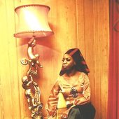 Nina simone with a lamp
