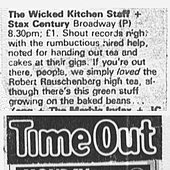 Wicked Kitchen Staff 1983 Time Out magazine listings