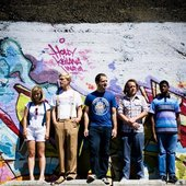 In front of graffiti!
