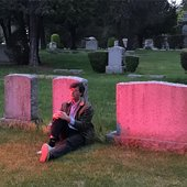 Matt and his pink grave