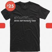 New Orthodox Line black t-shirt