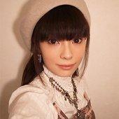 Anna Sakurai with her new pendant