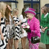 Escala meeting the Queen at the recent Coram Charity Event
