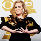 [PNG] Adele & her 6 Grammys