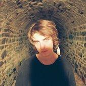 Jackson Scott in a tunnel