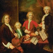 bach and his kids
