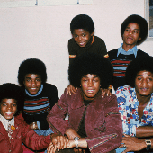 Jackie, Tito, Jermaine, Marlon, Michael and Randy in London, October 1972