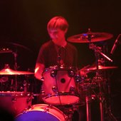Lauren Grubb playing drums @ Great American Music Hall show 2014