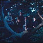 press photo 2001. From the left: Peter Hall, Signe Asmussen, Morten Ryelund, Mads Thiemann, Caspar Reiff & Katja Nielsen