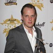 "Joe with best \""Breakthrough\"" Artist Award."