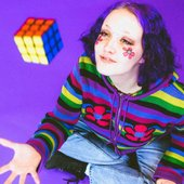 Chloe with Rubiks Cube