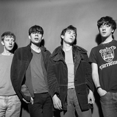 Blur on their first Japan visit. Taken on March 1, 1992