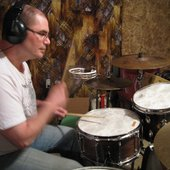 Chris on Percussion