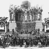 Arcangelo Corelli regendo uma serenata na Piazza di Spagna