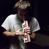Karsten playing a melodica