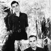 """Javier Aramburu e Iñaki Gametxogoikoetxea durante la grabación de """"La Maqueta Plateada"""", 1991"""