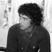 David photographed at the Troubador, where he played along with Elton John.