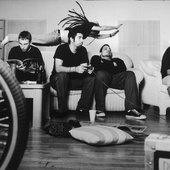 Black and white shot of the Deftones