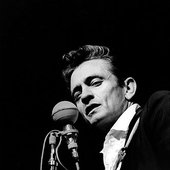 Johnny Cash performing in the mid 1960s.
