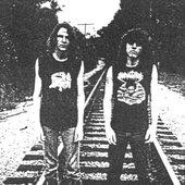 Mutilation demo - From left to right: Chris Reifert, Chuck Schuldiner
