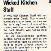 Wicked Kitchen Staff 1983 Music and Video Week review