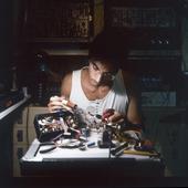 Rafael Toral in his studio, Lisbon, August 2006