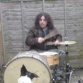 Drumming to the dog