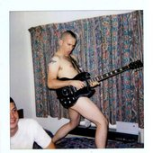 """Jamie Stewart and Ches Smith by David Horvitz (from the book: \""""Xiu Xiu, The Polaroid Project\"""")"""