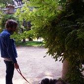 Joaquín Pascual y su perro