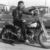 Dick Dale on bike