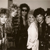 1989 tour kick-off party with Gene Simmons and the band Vixen, Los Angeles. ~ Richard Marx