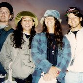 Cynic in 1994 after their performance at Dynamo OA