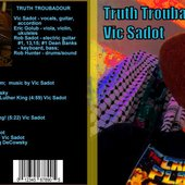 Truth Troubadour CD Baby CD back and front covers by Vic Sadot